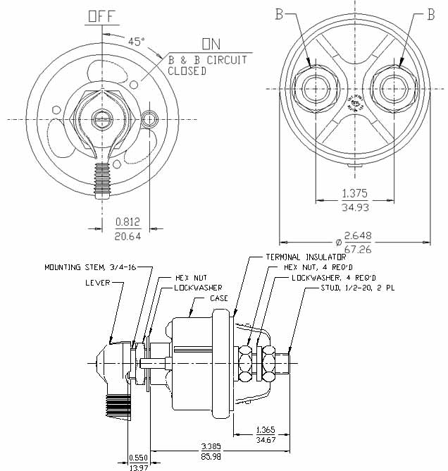 75908Drwg cole hersee 75908 master battery disconnect switch kill 2post spst,1946 Hudson Wiring Diagram