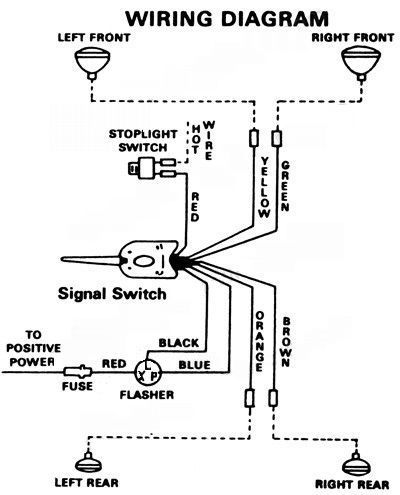 UniTurnSignalWiringDia black universal turn signal switch quality hot rod custom jeep 4x4,1951 Desoto Headlight Wiring Diagram