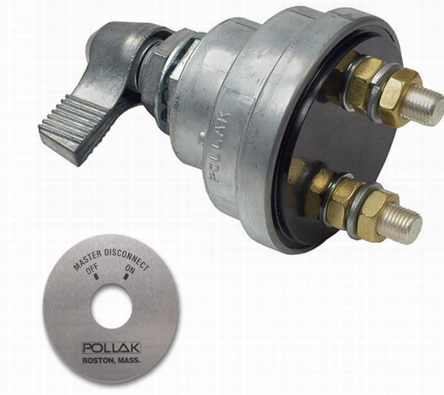 Pollak 51902 51302 Battery Master Disconnect Kill Switch 180 S. 34 Diameter Mounting Stem 38 Studs. Wiring. Pollak Battery Disconnect Wiring Diagram At Scoala.co
