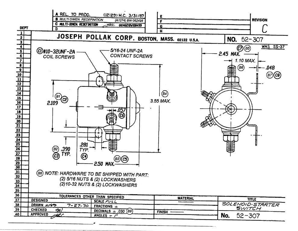 solenoid switch pollak 52